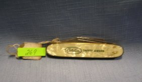 Early Catlin Advertising Pocket Knife By Colonial