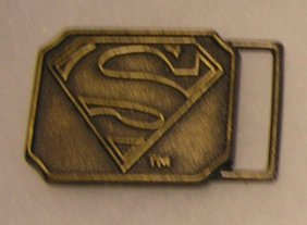 Dc Comics Solid Brass Superman Belt Buckle