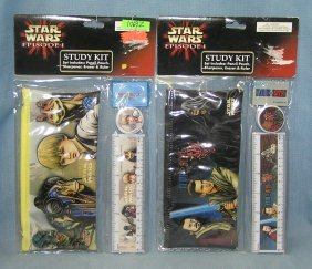 Pair Of Star Wars Study School Kits