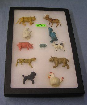 Group Of Vintage Jungle And Farm Animals
