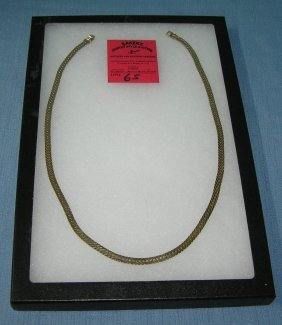Large Gold Plated Necklace