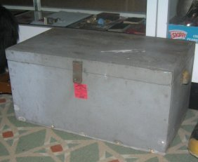 Antique Painted Storage/tool Chest