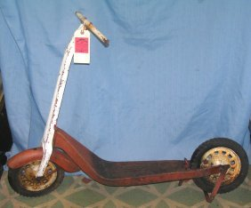 Antique All Metal Scooter Circa 1930's