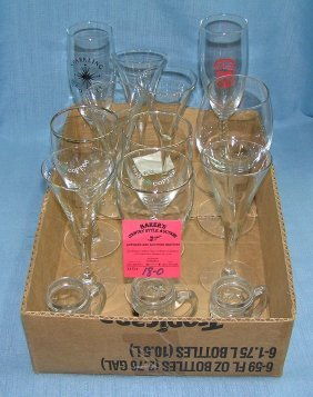 Box Of Vintage Stemware And More