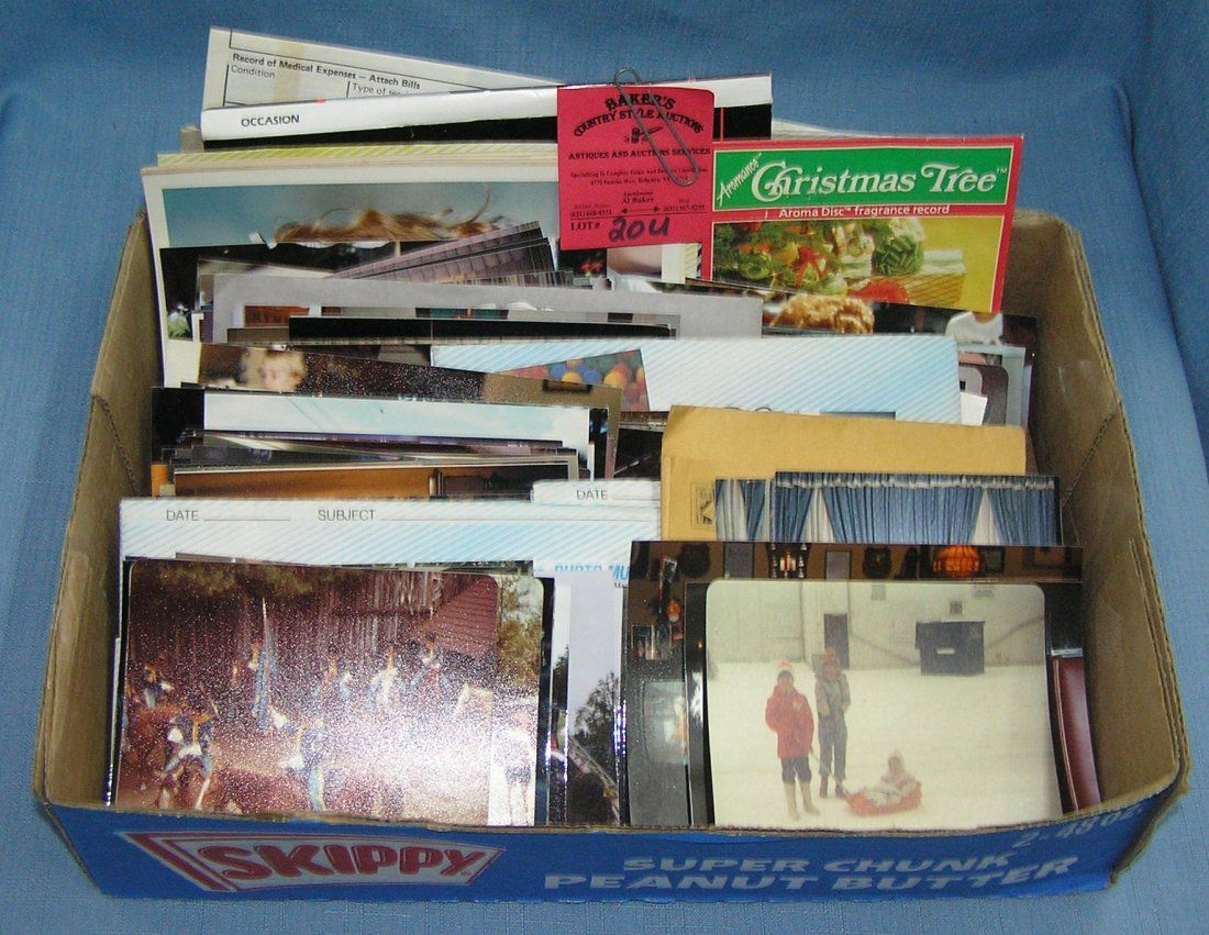 Box full of vintage photographs