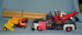 Group Of Vintage Metal Toy Trucks