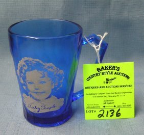 Shirley Temple Decorated Drinking Glass