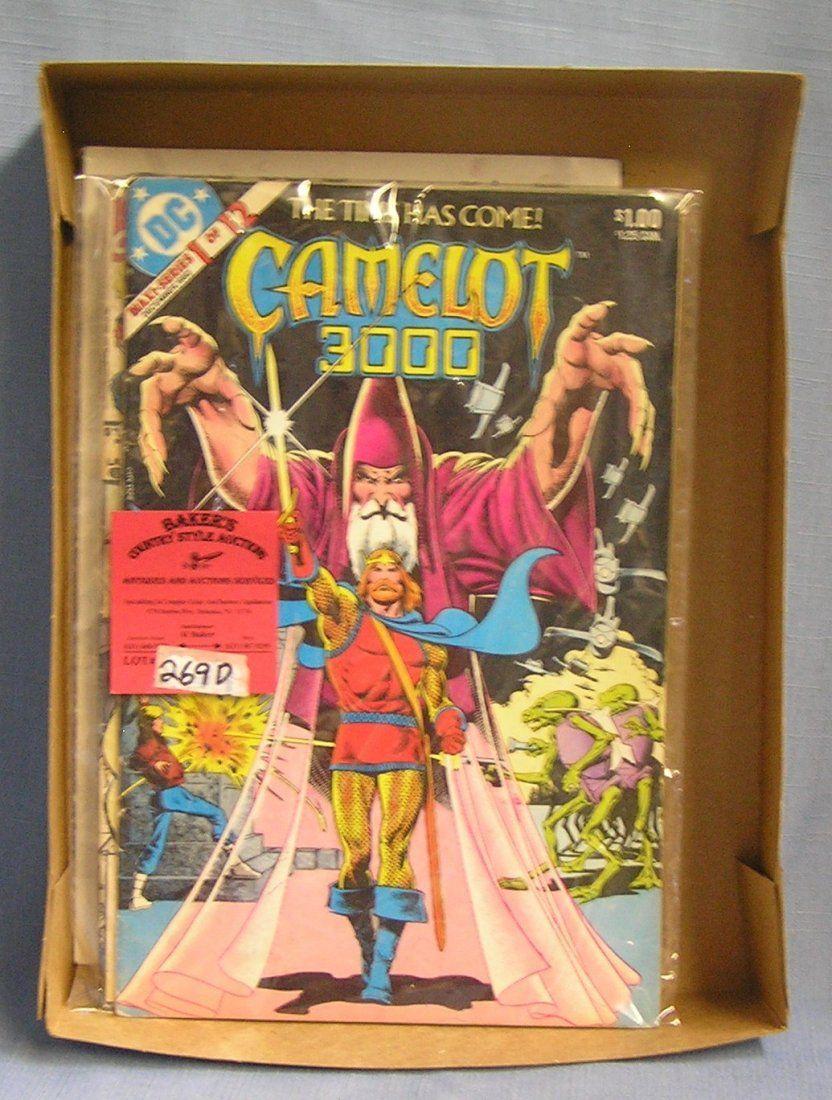 Box of vintage comic books