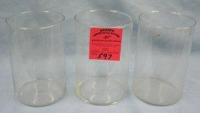 Group Of Three Vintage Glass Crystal Beakers