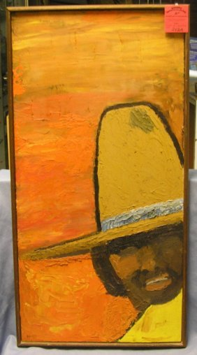 Mexican Style Oil On Canvas Board