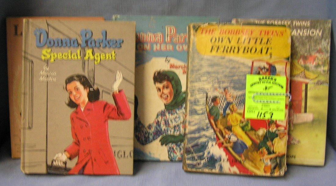 Box full of vintage Bobbsey twins story books