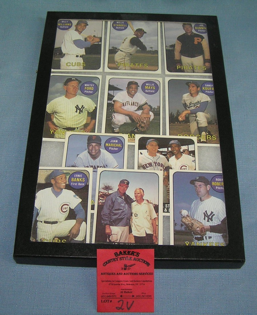 Vintage style reprint all star baseball cards