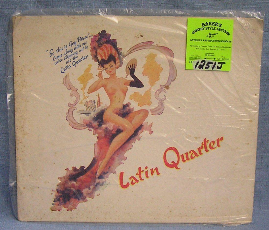 Souvenir photo booklet from the Latin Quarter