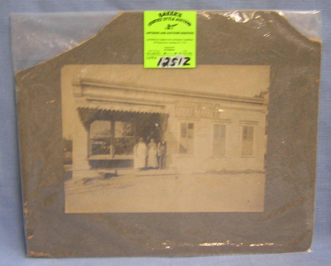 Joseph Ramp Jr. Meat Market photo ca. 1880's