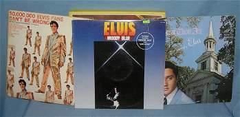 Vintage Elvis Presley record albums
