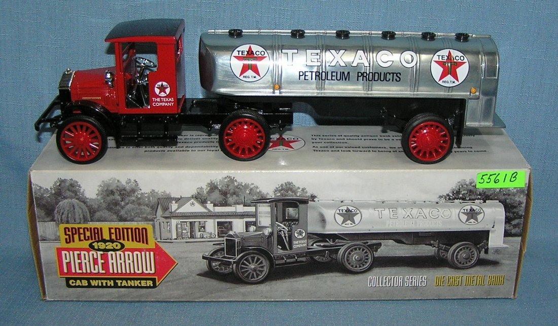 Vintage 1920 Texaco delivery tanker truck
