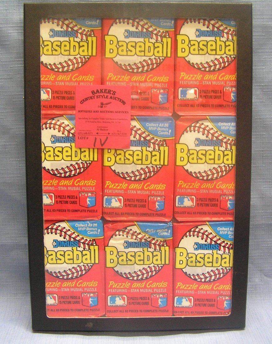Group of vintage unopened baseball packs