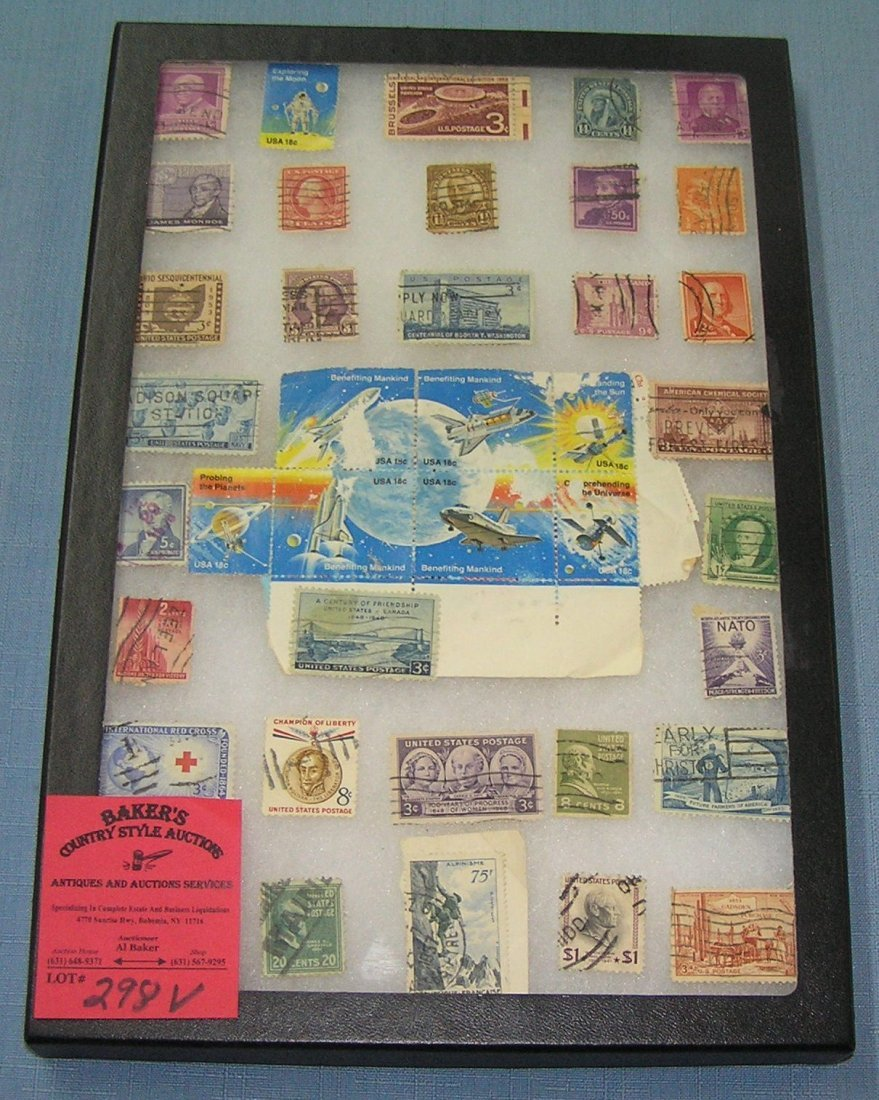 Large collection of vintage US postage stamps