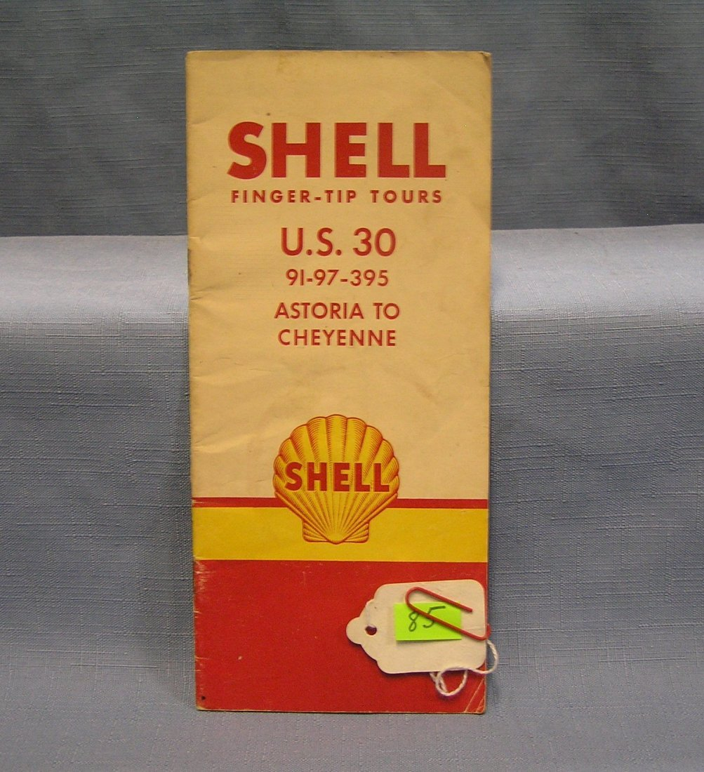 Vintage Shell Gas advertising road map