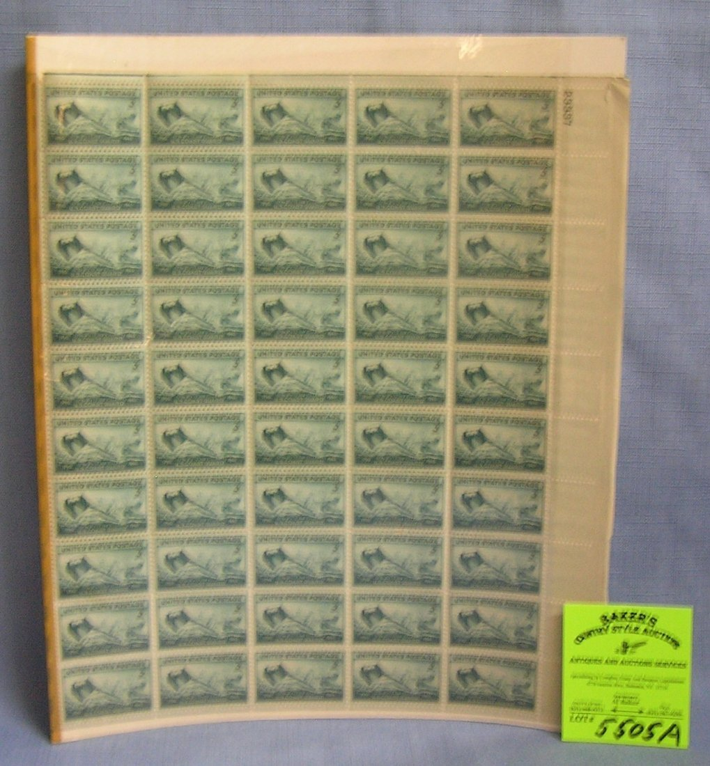 Block of vintage US postage stamps