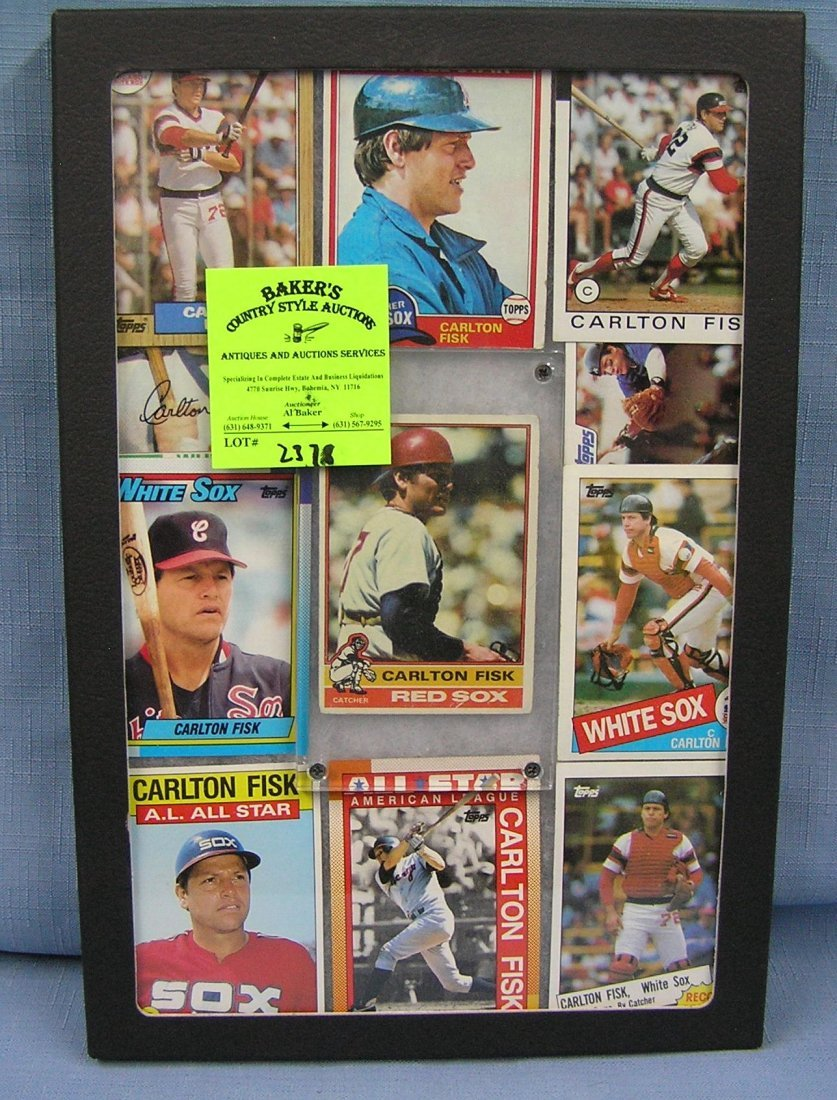 Collection of vintage Carlton Fisk baseball cards