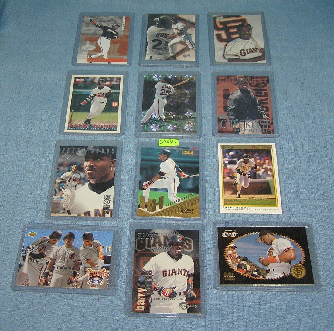 Collection of Barry Bonds Baseball cards