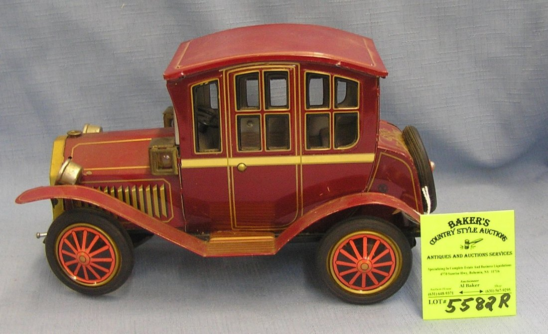All tin battery operated antique auto