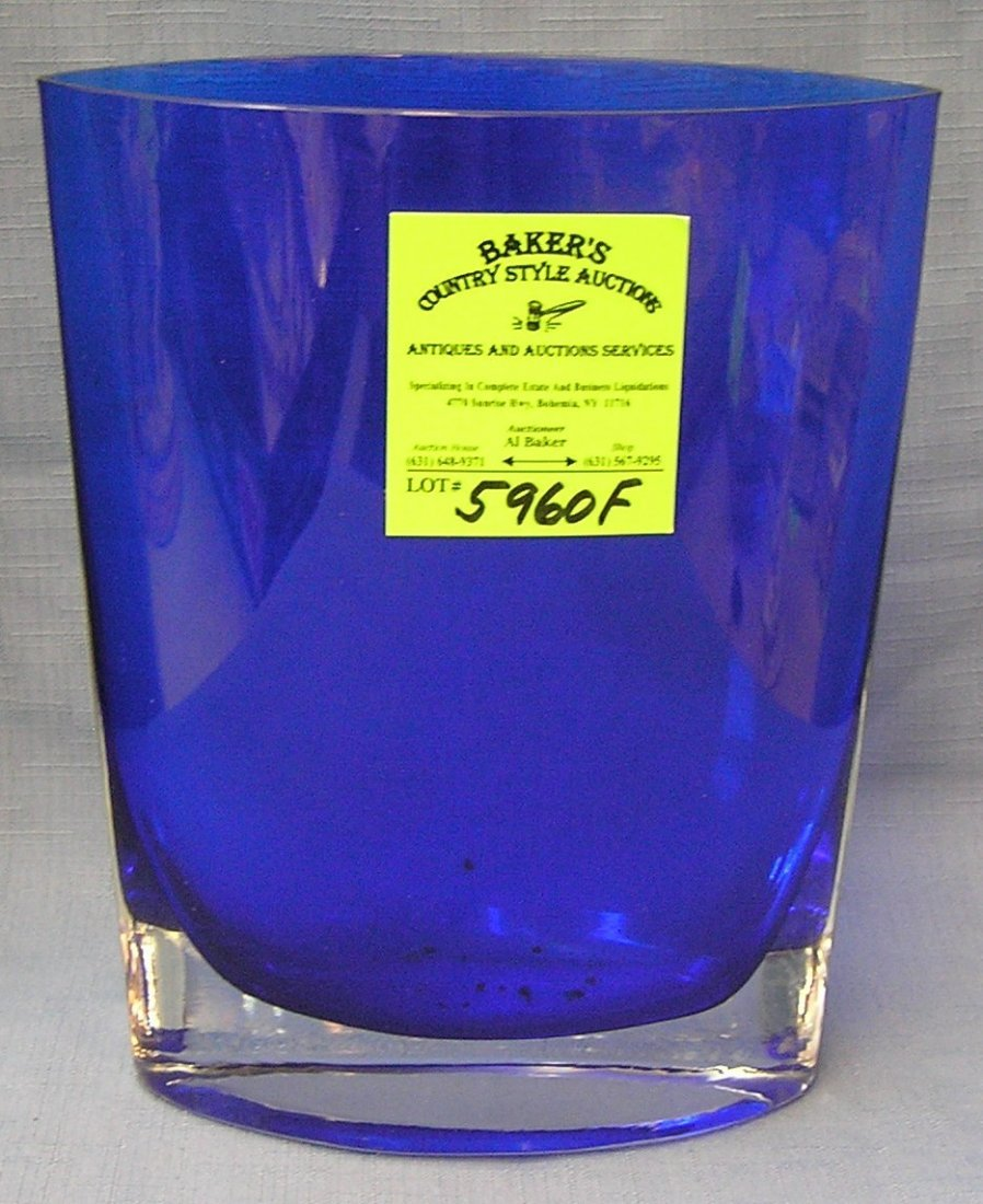 Quality cobalt blue art glass vase