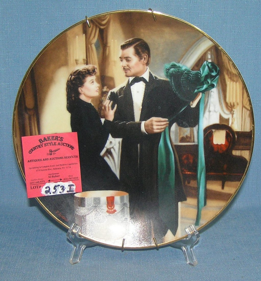 Vintage Gone with the Wind collector plate