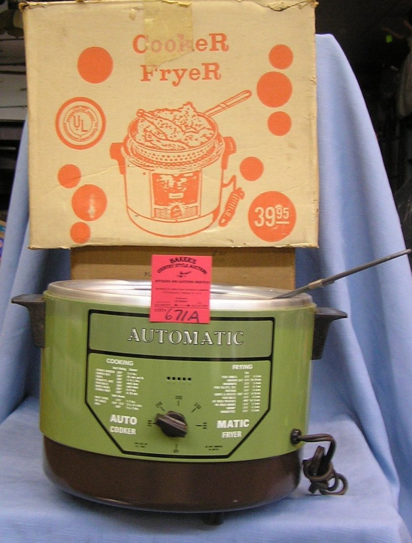 Automatic cooker or deep fryer