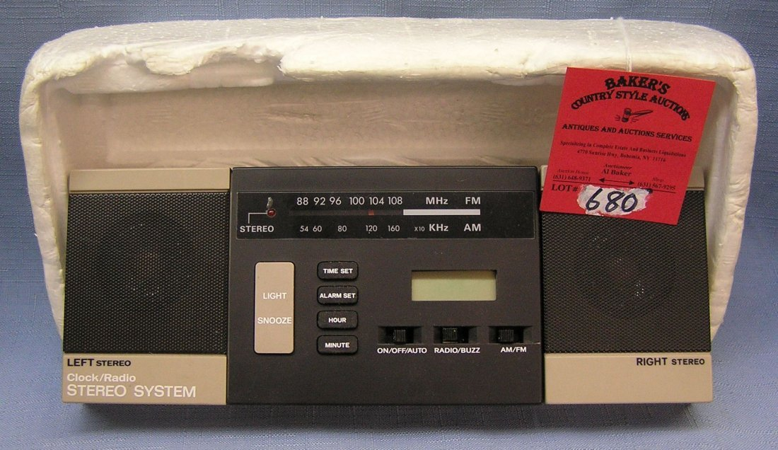Vintage clock radio stereo system