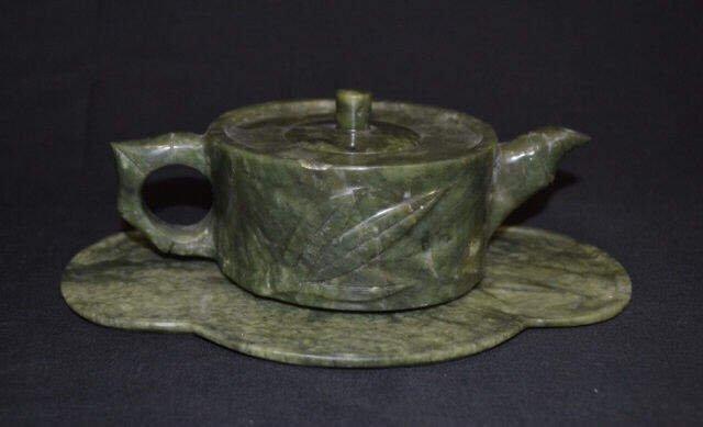 3 Piece Stone Tea Pot & Tray 3 piece, Stone Tea Set