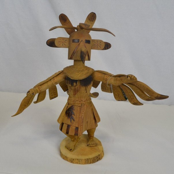 Signed FAQE R PLATERO Carved Wooden Figurine Signed