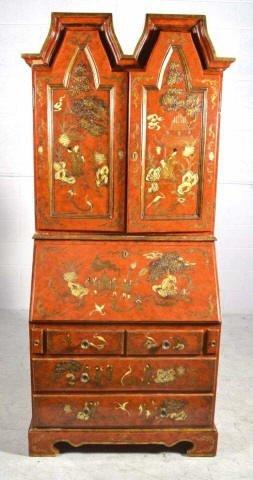 2 Piece Contemporary Oriental Decorated Secretary