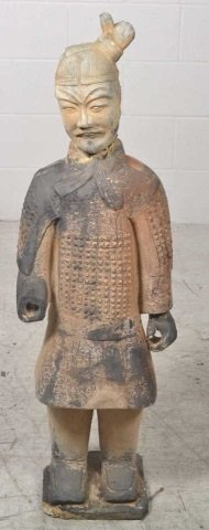 Small Terra-Cotta Warrior Statue Terra-Cotta Warrior