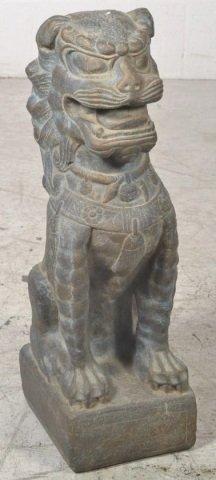 Stone Foo Dog Statue w/ Stand Stone Foo Dog Statue