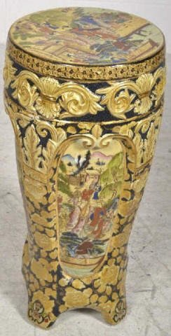 Hand Painted Asian Style Plant Stand Hand Painted Asian