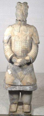 Life Size Terra-Cotta Warrior Statue Terra-Cotta