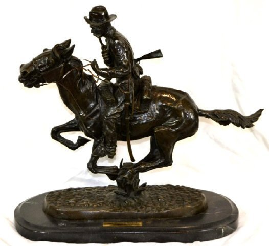 """After Remington Bronze """"The Bronco Buster"""" 23"""" Tall"""