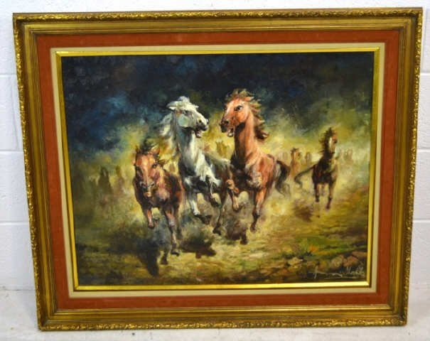 "Americo Makk Oil on Canvas "" The Match "" The Frame is"