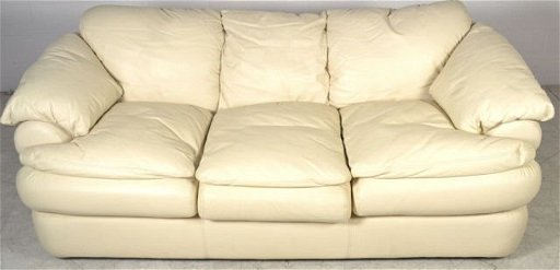 Viewpoint Leatherworks Ivory Leather Sofa