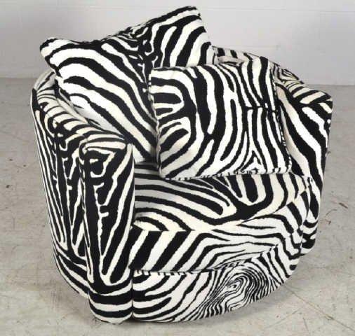 Zebra Print Roche Bobies Swivel Chair From Italy Zebra