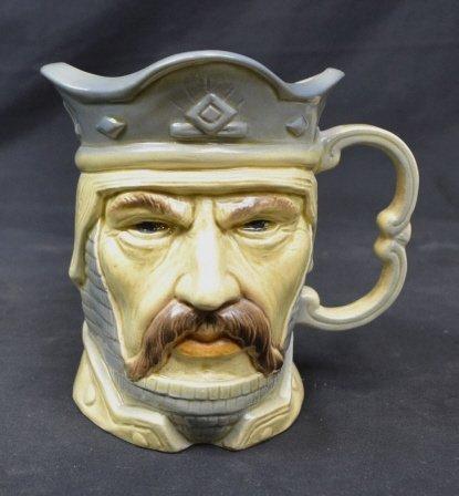 Kingston Pottery Edward III Toby Character Mug Kingston