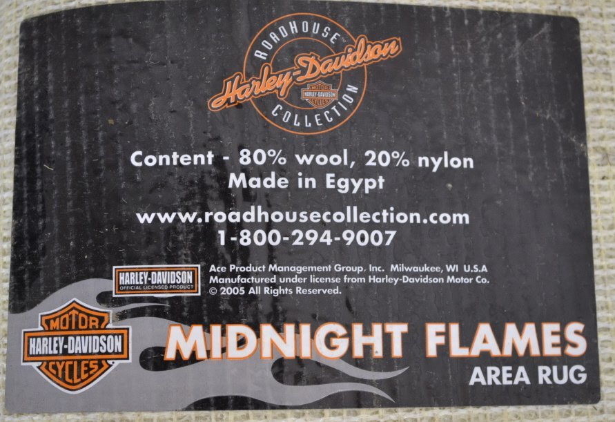 Harley Davidson Roadhouse Collection Area Rug Harley - 2