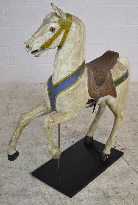 Heyn Glass Eye Wood Carousel Horse Carved Glass Eye