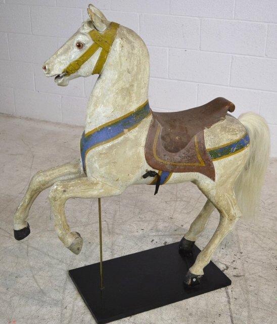 Heyn Glass Eye Wood Carousel Horse Carved Glass Eye - 2