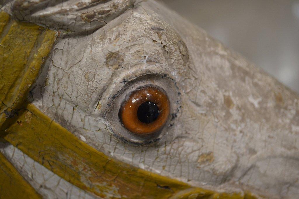 Heyn Glass Eye Wood Carousel Horse Carved Glass Eye - 6