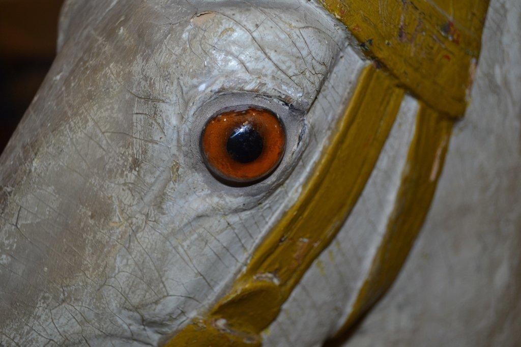 Heyn Glass Eye Wood Carousel Horse Carved Glass Eye - 7