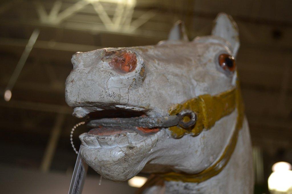 Heyn Glass Eye Wood Carousel Horse Carved Glass Eye - 9