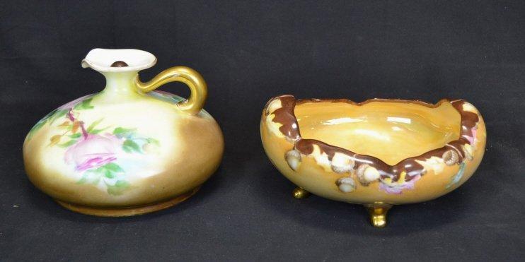 D&EG Austria Ceramic Porcelain Footed Bowl & Pitch D&EG